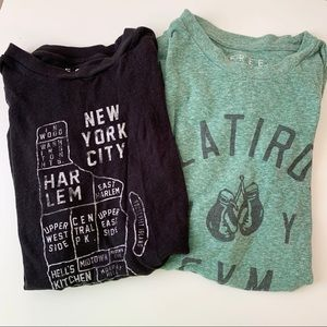 Aeropostale Free State Tees New York NY 2 pack